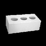 Кирпич белый силикатный полуторный лицевой пустотелый, 250х120х88, M150