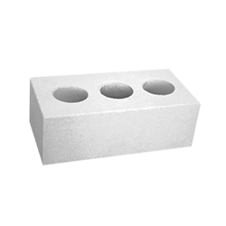 Камень белый силикатный полуторный лицевой пустотелый, 250х120х138, M200