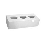 Кирпич белый силикатный одинарный лицевой, пустотелый M200,  250х120х65