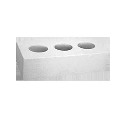 Кирпич белый силикатный одинарный лицевой, пустотелый M150, 250х120х65
